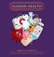 human health poster with medical characters vector image