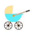 isolated baby stroller icon vector image vector image