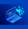 isometric website banner e-mail protection vector image