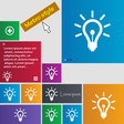 Light bulb icon sign buttons Modern interface vector image
