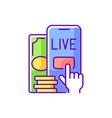 live betting rgb color icon vector image