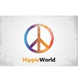 Make Love Not War - Hippie style PEACE logo vector image vector image