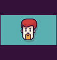 Man head logo or icon for app or mobile or web