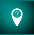 map pointer with question symbol icon isolated vector image vector image