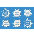 Milk labels set vector image vector image