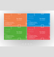 modern business card templates set vector image vector image