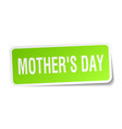 mothers day square sticker on white vector image vector image