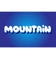 mountain text 3d blue white concept design logo vector image vector image