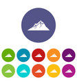 mountains icon simple black style vector image
