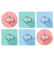 outlined icon of left direction arrow with vector image vector image