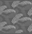 palm leaves seamless pattern design gray vector image