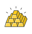 pile of gold bar filled outline icon vector image