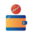 price hike wallet with arrow up infographic vector image vector image