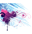red and blue abstract design vector image vector image