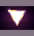 retro neon 80s shiny triangle abstract background vector image vector image