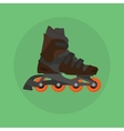 roller skates skater single isolated with green vector image
