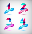 set of anniversary retro numbers design n vector image vector image