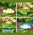 set of nater landscape vector image vector image