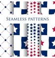 Set of seamless patriotic pattern with blue stars vector image