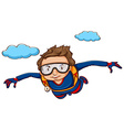 Sky diving vector image vector image