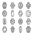 smart watch and fitness bracelet icons set vector image