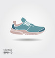 sport shoes sneakers flat icon vector image vector image