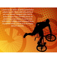 stunt bicyclistabstract background vector image vector image