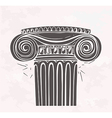 Stylized Antique column in sketch style on a