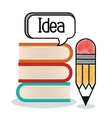 textbooks and educational helpful isolated icon vector image vector image
