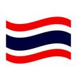 thailand flag vector image