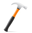 tool hammer 01 vector image vector image
