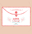 valentines day envelope greeting card vector image vector image