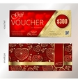 Valentines day gift voucher or coupon with vector image vector image