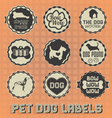 Vintage Pet Dog Labels and Icons vector image vector image