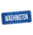 Washington blue stamp isolated on white background vector image vector image