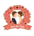 wedding invitation design vector image vector image