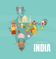 welcome to india banner template with indian map vector image vector image
