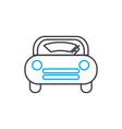 windscreen wiper thin line stroke icon vector image vector image