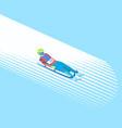 winter sport luge vector image