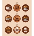 Wooden sale discount vintage badges vector image vector image