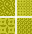 Yellow seamless pattern background set vector image vector image