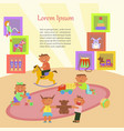 children playing in kindergarten vector image