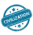 CIVILIZATION round stamp vector image