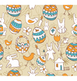 Easter Seamless background with a childrens vector image