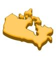 Canada map icon cartoon style vector image