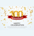 100 years anniversary banner template vector image