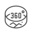 360 degrees line icon vector image