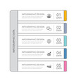 5 data infographics tab paper thin line index vector image vector image