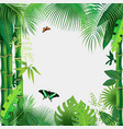 abstract background with tropical leaves vector image vector image