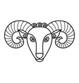 aries sign symbol ram or mutton with horns
